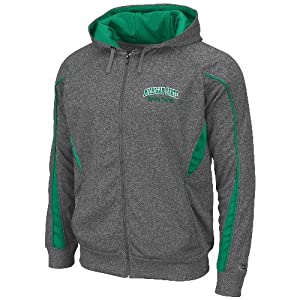 Michigan State Spartans NCAA Renegade Full Zip Hooded Sweatshirt - Charcoal by Unknown