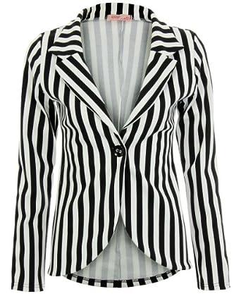 Womens Striped Blazer