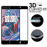 #10: IDEAL For : One plus 3 OnePlus 3T 1+3 IDEAL Edge to Edge Full Front Body Cover Coloured (BLACK) Tempered Full Glass Screen Protector Guard for One plus 3 OnePlus 3T 1+3-Black