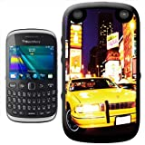 Yellow Taxi Cab in New York Times Square USA Hard Case Clip On Back Cover For Blackberry 9320 Curve