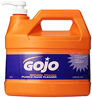 GOJO NATURAL ORANGE Pumice Hand Cleaner with Pump Dispenser