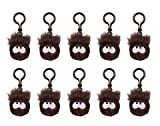 CLOSE-OUT Special - 10 Pack of Disney Club Penguin 2 BLACK Puffle Clip - Back Pack Clip On - Key Chain - VALUE DEAL = Just the Puffle w/o Coin - Great for Birthday Party Gifts