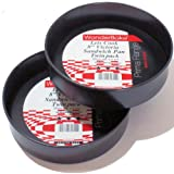 "WonderBake set of 2 Loose Base 8"" Inch Round Victoria Sandwich Cake Tins for Bakingby Lets Cook WonderBake"