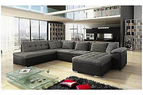 Canapé d'angle panoramique ALIA en U angle gauche