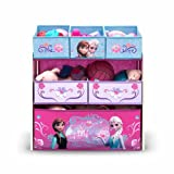 Frozen Toy Storage with 6 Bin Organizer Featuring Disney Princesses Anna & Elsa