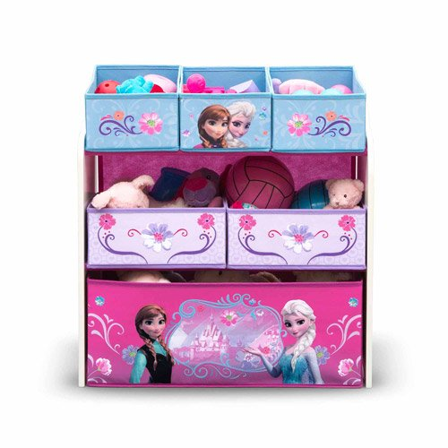 Frozen Toy Storage with 6 Bin Organizer Featuring Disney