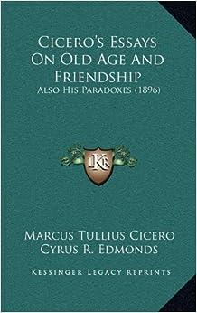 Essay on friendship by cicero