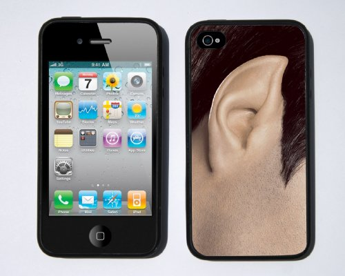 Spock Ear iPhone 4 / 4s case By Little Brick Press (Hard Silicone Rubber Case)