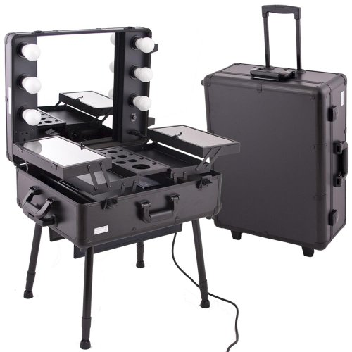 Black PRO STUDIO Aluminum Professional Makeup