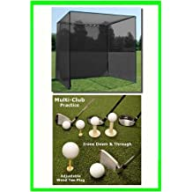 Golf Mat Golf Net Cage 10 X10 X10 Golf Net Golf Cage And 4 X4 Multi-Club Golf Mat. Our Dura-Pro 10 D X 10 H X10...
