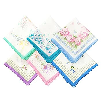 LACS Vintage Floral handkerchiefs mixed Lot Pretty Ladies Cotton Hankies