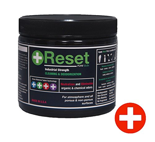 Reset Pure Chlorine Dioxide LIQUID: Safely Remove Organic & Chemical Odor From Any Surface or Tank & Line System. 5 Red Tablets. Commercial Strength (H-Level) (Chlorine Dioxide Liquid compare prices)
