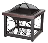 Fire-Sense-Cocktail-Table-Fire-Pit-Hammer-Tone-Bronze-Finish