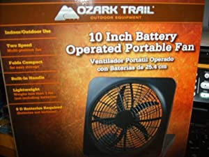 Ozark Trail 10 Quot Battery Operated Portable Fan By O2 Cool