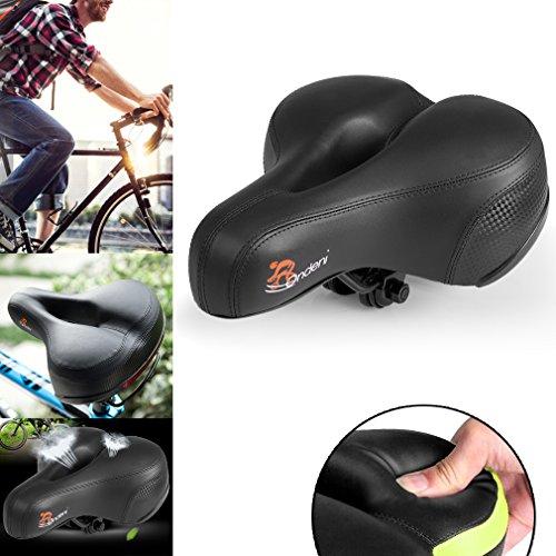 Ondeni Mountain Bike sella della bicicletta Ammortizzatore di sede di Alta reattività Molle schiuma del sedile comodo biciclette per i grandi fianchi, 25*20CM