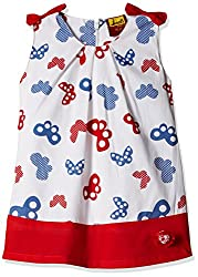 Seals Girls' Dress (AM8114_1_RED_2-3 Years)