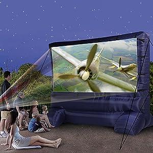 Gemmy 39127-32 Deluxe Outdoor Inflatable Movie Screen, 12-Ft. Widescreen