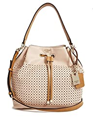 GUESS Juliana Perforated Bucket Bag