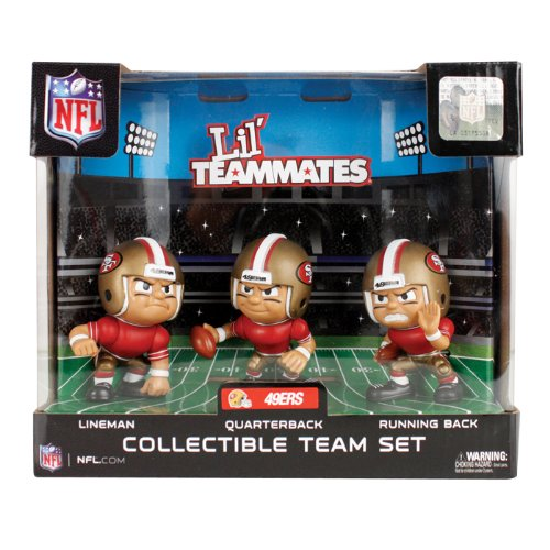 San Francisco 49ers Lil Teammates NFL 3-Pack Collectible Team Set at Amazon.com