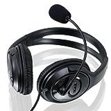 CSL S-085 Multimedia Headset Pro HQ 960 | Komfort Gaming Kopfhörer mit Mikrofon in Schwarz