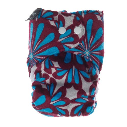 2011 Limited Edition Itti Bitti d'Lish snap-in-one nappy, Ayannah print, small (7.5-16.5lbs), minkee outer, bamboo inner
