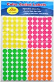 Print or Write Color Coding Labels, 0.75 Inches, Round Stickers, Pack of 2,100