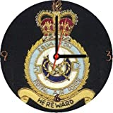 ROYAL AIR FORCE RAF 2 TWO FIGHTER SQUADRON INSIGNIA BADGE CREST * A CD/DVD (12 cm diameter) SIZED NOVELTY CD QUARTZ WALL CLOCK WITH FREE BATTERY AND DESK STAND * CAN BE PERSONALISED