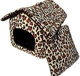 (マイホット) MyHot 組み立て 式 折りたたみできる ペット ハウス 犬 猫 小動物 に (ヒョウ 柄)