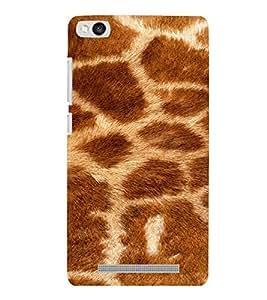 PrintVisa Giraffe Animal Print Pattern 3D Hard Polycarbonate Designer Back Case Cover for Xiaomi Redmi 3S