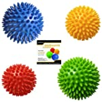 Pack of 4 Spiky Massage Balls, Hard &...