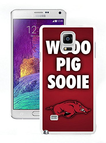 Custom Design Compelling Phone Cases For Samsung Galaxy Note 4 N910A N910T N910P N910V N910R4 With NCAA Arkansas Razorbacks 1 White