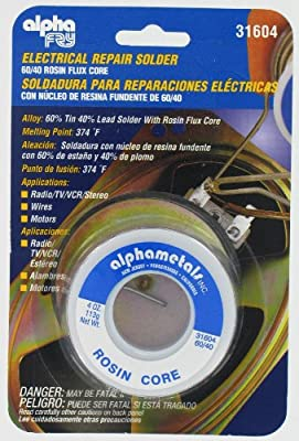 Alpha Fry AT-31604 60-40 Rosin Core Solder (4 Ounces) from AMERICAN TERMINAL SUPPLY