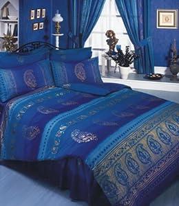 Asian Indian Kashmir Navy Blue Purple Gold King