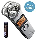 Zoom H1 2.0 Silber Silver Recorder MP3 Wave + Batterie FREE!