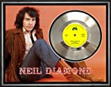 Neil Diamond Sweet Caroline Framed Silver Disc Display