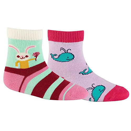Sock It To Me Infant Baby Pack Honey Bunny/Whales Pink/Multi Socks