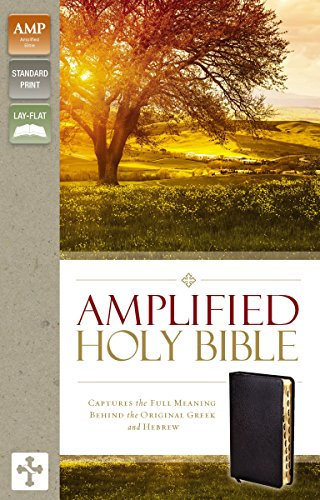 Amplified, Holy Bible, Imitation Leather, Black, Indexed, Lay Flat: Captures the Full Meaning Behind the Original Greek