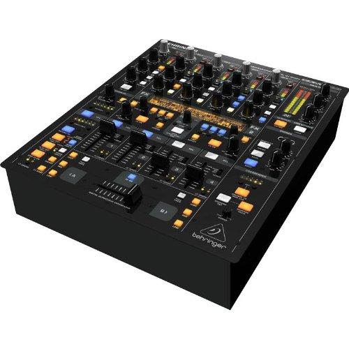Behringer DDM4000 Mixer DJ 5 canali professionale MIDI (processore 32 bit, sezione microfono, effetti XMC)