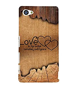 Love Quote 3D Hard Polycarbonate Designer Back Case Cover for Sony Xperia Z5 Compact :: Sony Xperia Z5 Mini