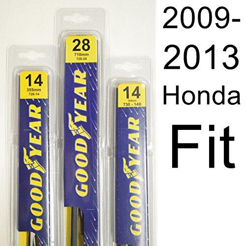 Honda Fit (2009-2013) Wiper Blade Kit - Set Includes 28