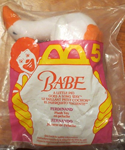 McDonalds - BABE #5 - Ferdinand Plush Toy, 1995 - 1