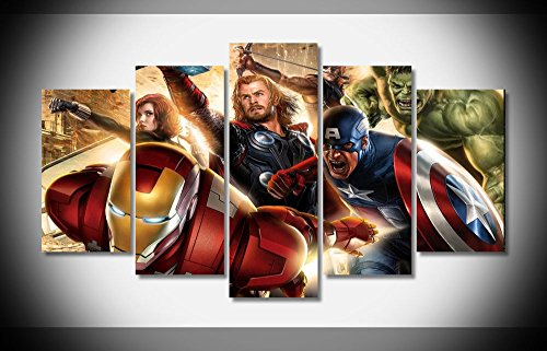 Bingirl 2667 The Avengers Movie Poster Print on Canvas Wall Art Decor Gallery Wrap Art Size Two (Avenger Pictures compare prices)