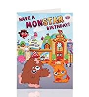 Moshi Monsters Boy Birthday Card