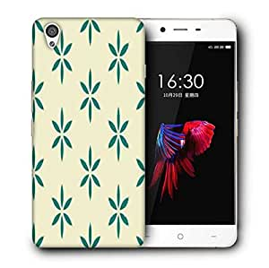 Snoogg Green Floral Printed Protective Phone Back Case Cover For OnePlus X / 1+X