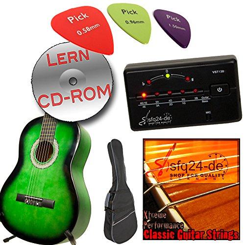 Ashley Klassik Gitarren Set in verschiedene Farben