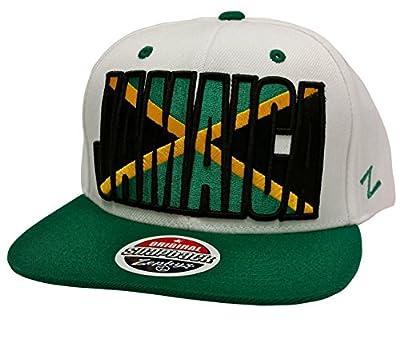 Zephyr Backdrop Jamaica White & Green Snapback