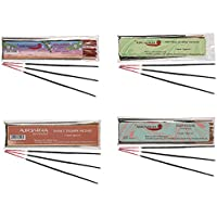 Auroshikha Combo Of Incense Sticks - Real Jasmine, Krishna Musk , Shiva's Triumph, Natural Jasmine - Set Of 4