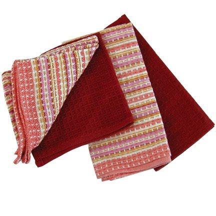 Villa Striped Crimson Kitchen Towels Set - Buy Villa Striped Crimson Kitchen Towels Set - Purchase Villa Striped Crimson Kitchen Towels Set (Now Designs, Home & Garden, Categories, Kitchen & Dining, Kitchen & Table Linens, Dish Cloths & Dish Towels)