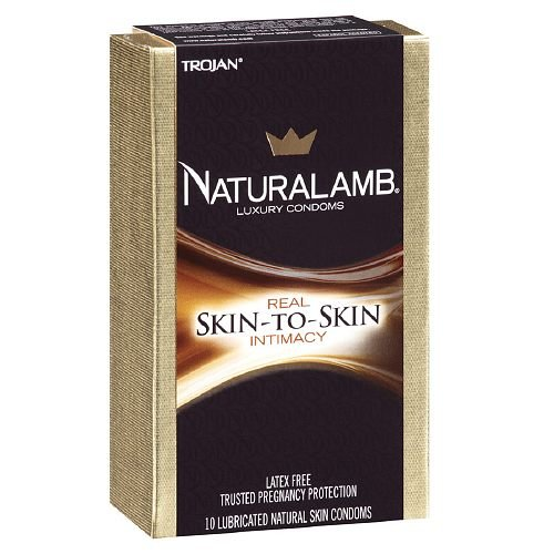 Trojan Luxury Lubricated Natural Skin Condoms 10 Ea kinston trojan