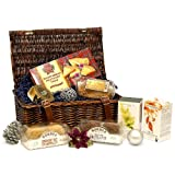 Traditional Christmas Tea & Biscuits Gift Hamper - Luxury Brown Wicker Basket with English Breakfast & Green Tea, Biscuits, Cake, Shortbread & Christmas Pudding - Luxury Christmas, Corporate, Retirement, Thank You, Wedding Anniversary, 18th 21st 30th 40t